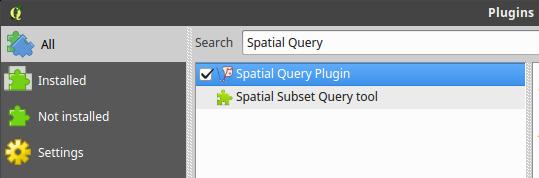 Install QGIS Spatial Query plugin
