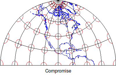 Compromise map projetion Tissot indicatrix