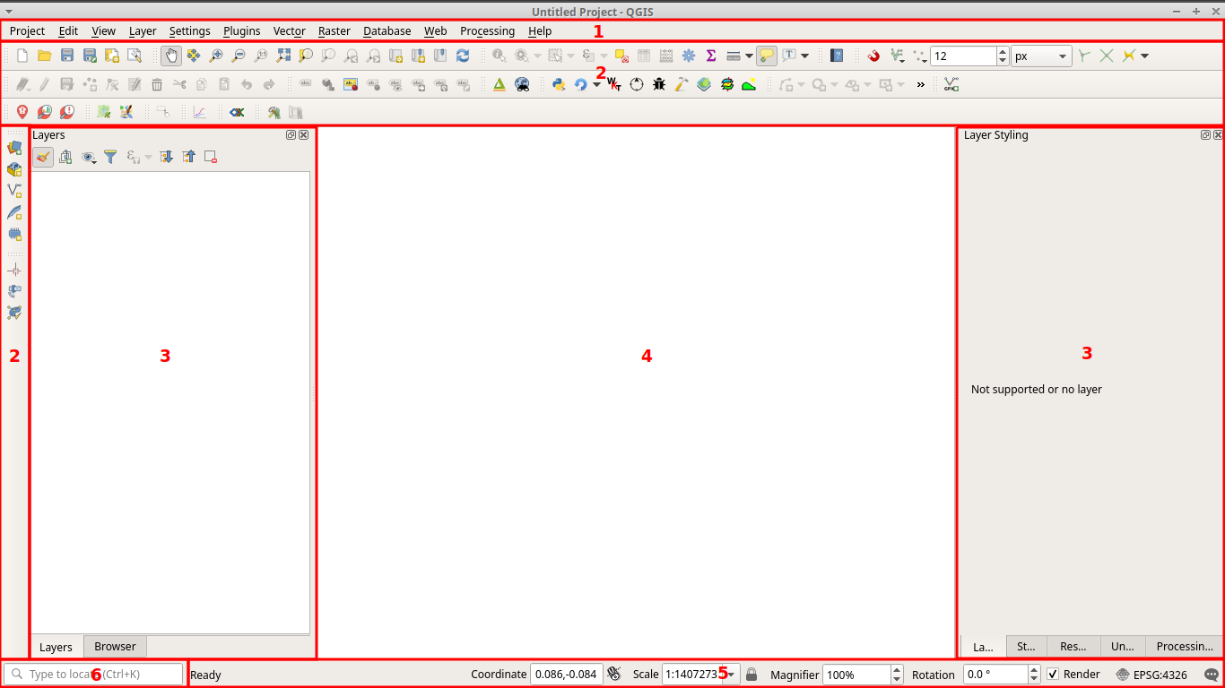 QGIS GUI graphical user interface