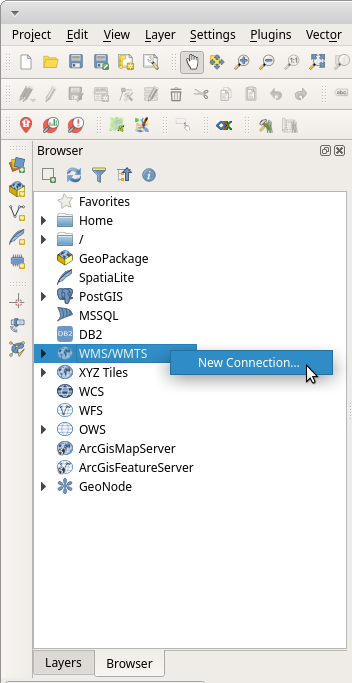 Connect to Philippine Geoportal WMS in QGIS Browser