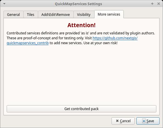 QuickMapServices plugin QGIS