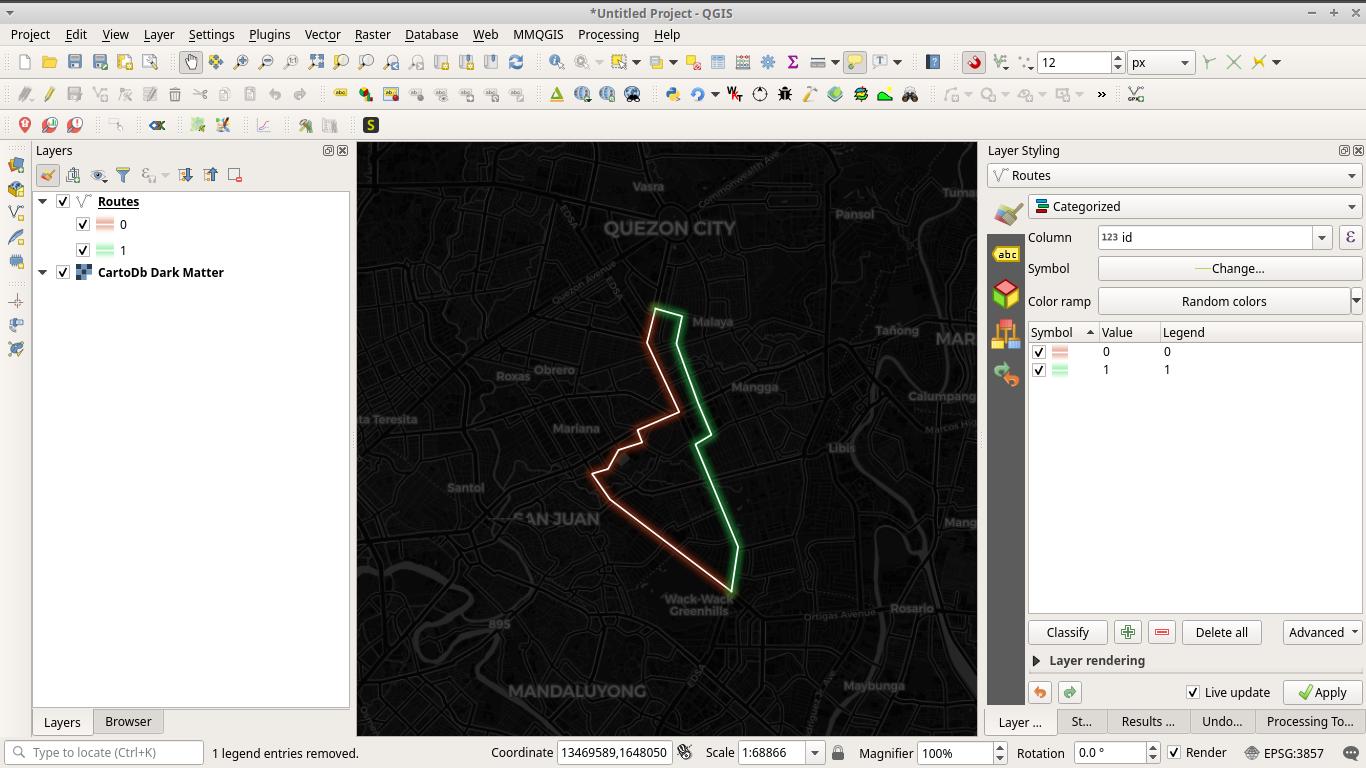 Using CARTO darkmatter basemap with glow effect QGIS