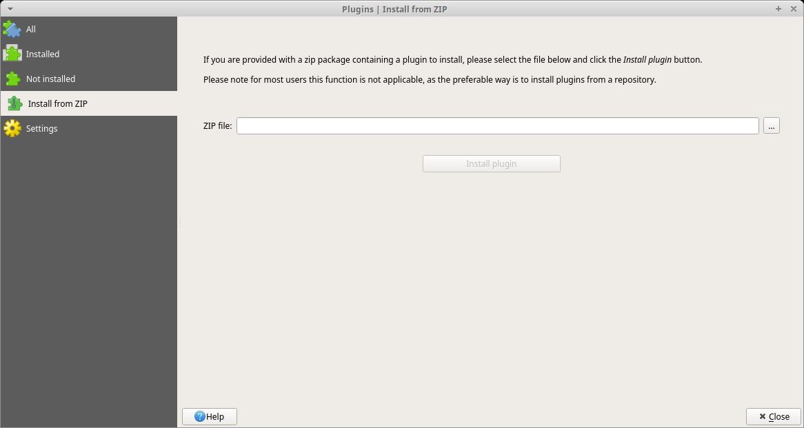 Installing QGIS plugins from ZIP QGIS 3