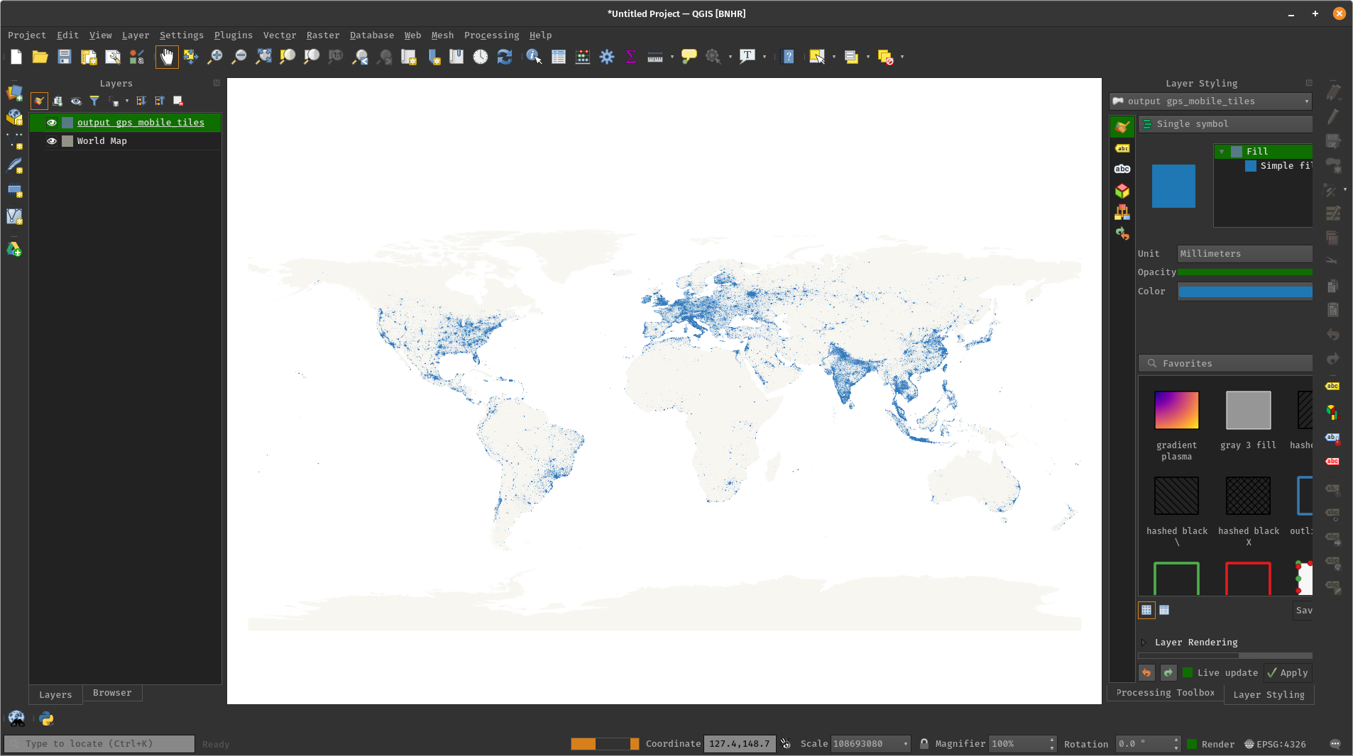 Ookla Global Fixed and Mobile Network Performance Maps in QGIS