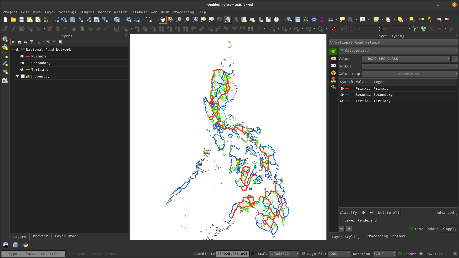 Load DPWH Layer in QGIS