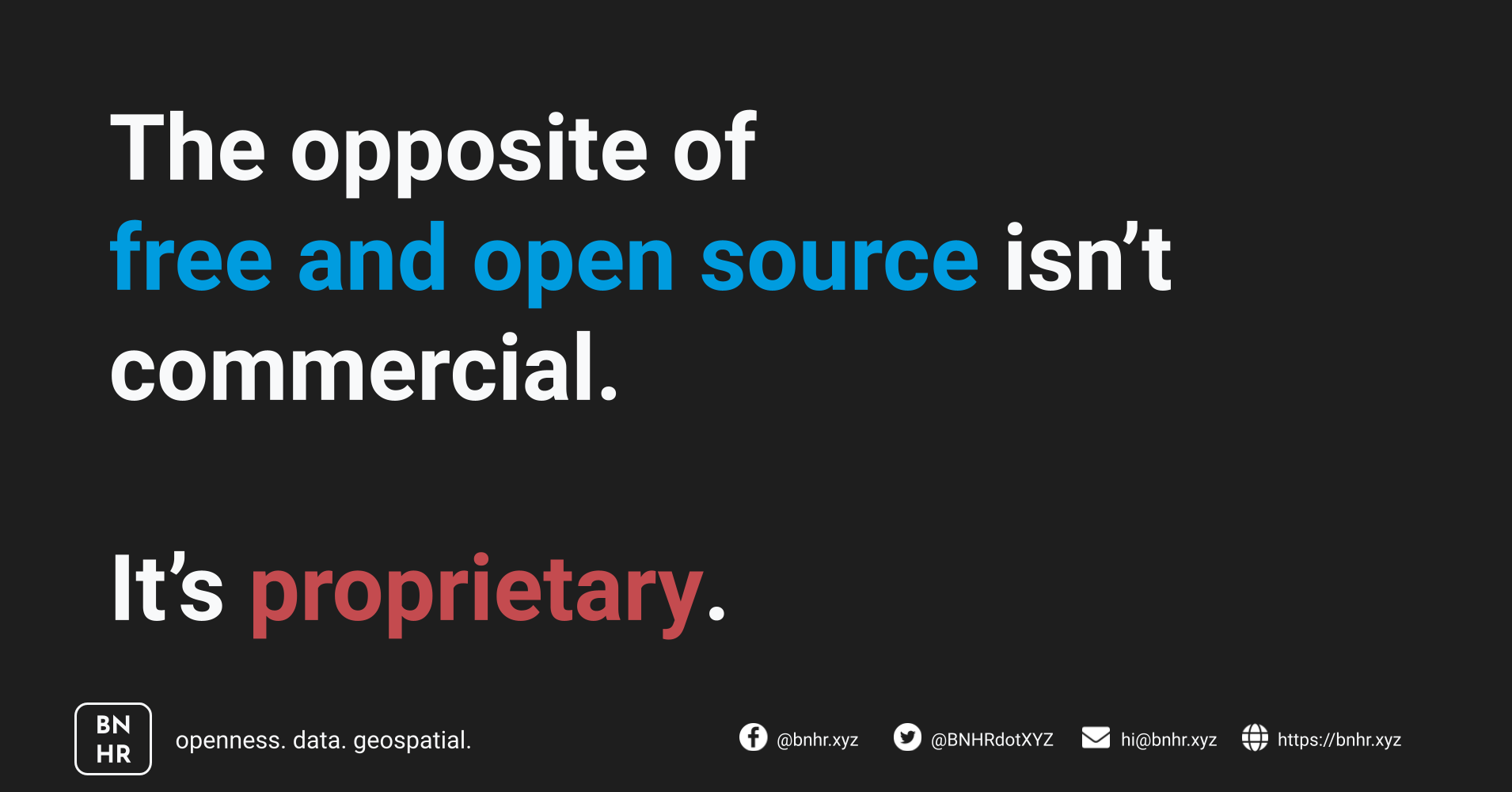 The opposite of free/libre and open source isn't commercial, it's proprietary.
